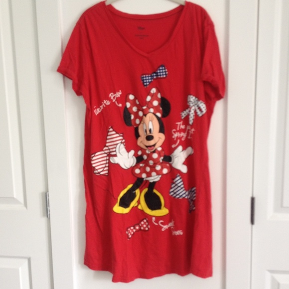Minnie Mouse Bow Night Gown